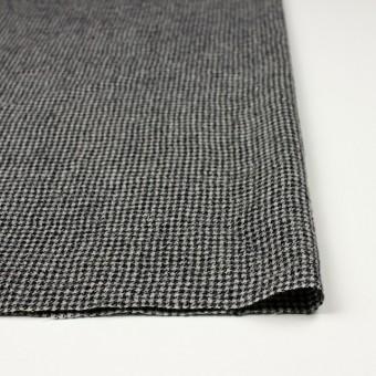 ウール×チェック(アイボリー&ブラック)×千鳥格子ガーゼ サムネイル3