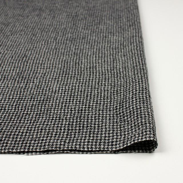 ウール×チェック(アイボリー&ブラック)×千鳥格子ガーゼ イメージ3