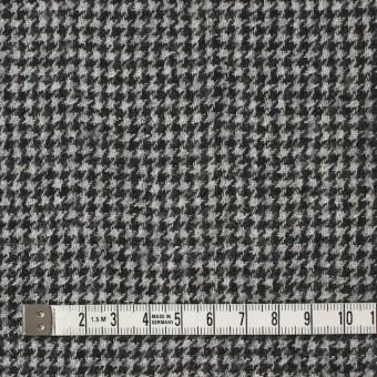ウール×チェック(アイボリー&ブラック)×千鳥格子ガーゼ サムネイル4