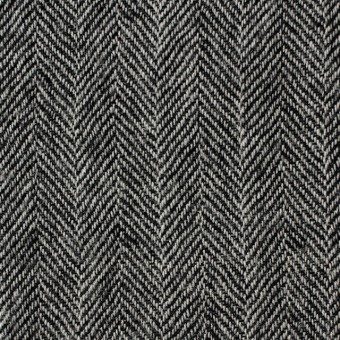 ウール×ミックス(アイボリー&ブラック)×ヘリンボーンガーゼ サムネイル1