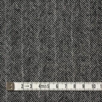 ウール×ミックス(アイボリー&ブラック)×ヘリンボーンガーゼ サムネイル4