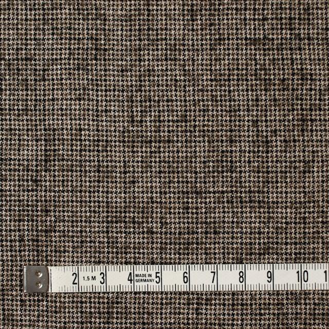 ウール&リネン×チェック(モカブラウン)×千鳥格子 イメージ4