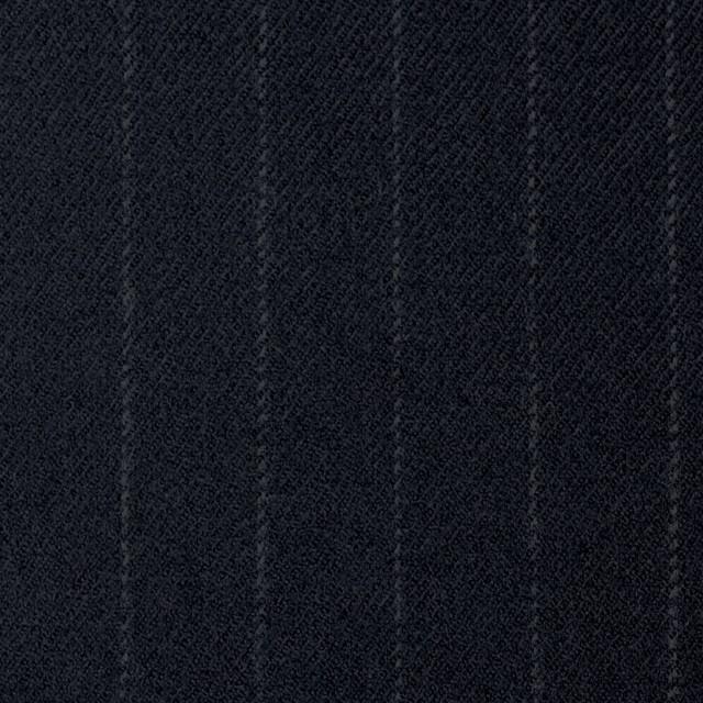 ウール&ポリウレタン×ストライプ(ダークネイビー)×サージ・ストレッチ イメージ1