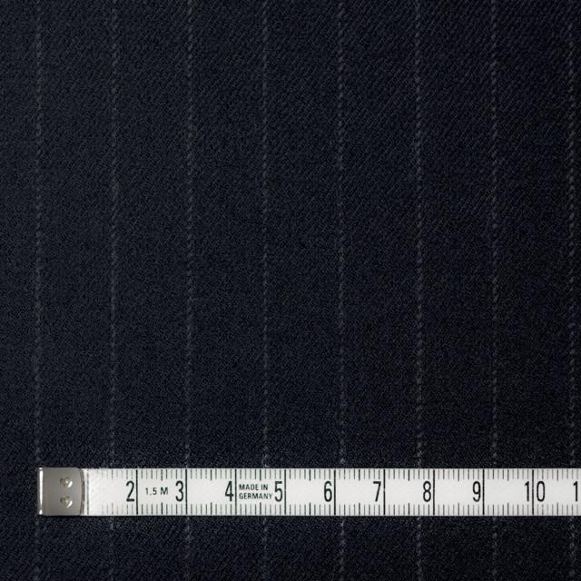 ウール&ポリウレタン×ストライプ(ダークネイビー)×サージ・ストレッチ イメージ4