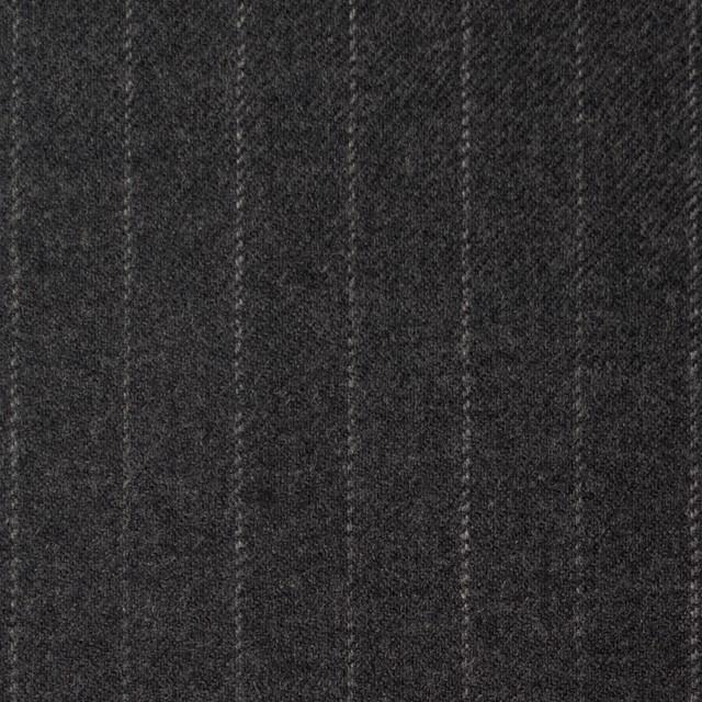 ウール&ポリウレタン×ストライプ(チャコールグレー)×サージ イメージ1
