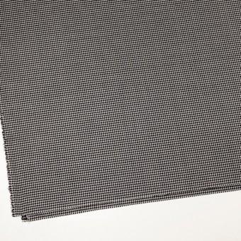 ウール&シルク×チェック(アイボリー&ブラック)×千鳥格子 サムネイル2