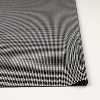 ウール&シルク×チェック(アイボリー&ブラック)×千鳥格子 サムネイル3
