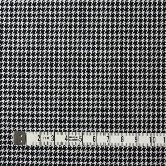 ウール&シルク×チェック(アイボリー&ブラック)×千鳥格子 サムネイル4