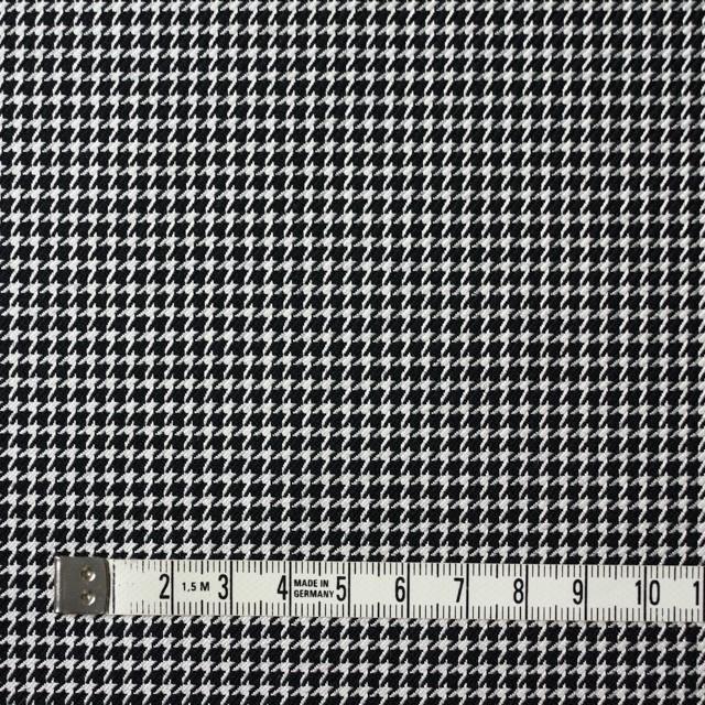 ウール&シルク×チェック(アイボリー&ブラック)×千鳥格子 イメージ4