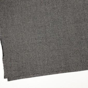 ウール&ポリウレタン×チェック(アイボリー&ブラック)×千鳥格子・ストレッチ サムネイル2