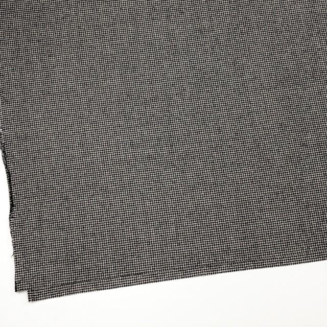 ウール&ポリウレタン×チェック(アイボリー&ブラック)×千鳥格子・ストレッチ イメージ2