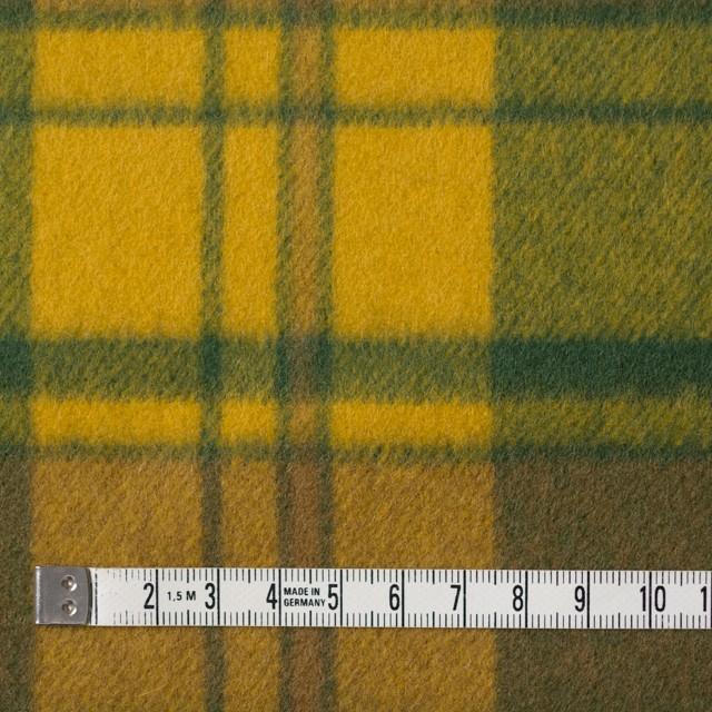 ウール×チェック(マンゴー&グリーン)×サキソニー イメージ4