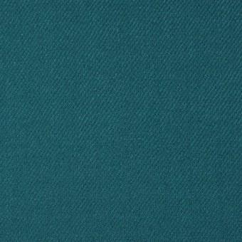 ウール&ポリウレタン×無地(ターコイズブルー)×サージ・ストレッチ