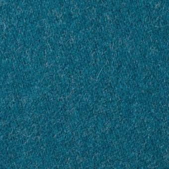 ウール&ナイロン×無地(ターコイズブルー)×二重織