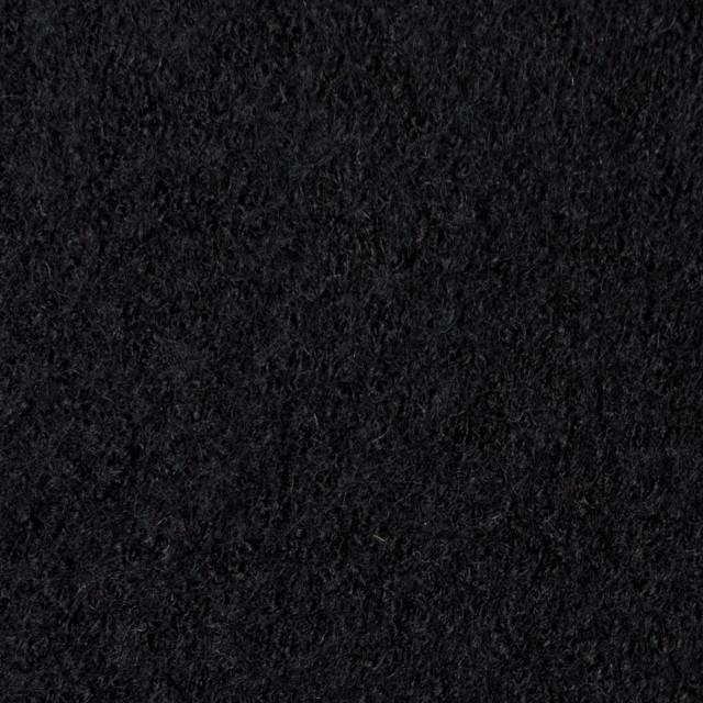 ウール×無地(ブラック)×圧縮天竺ニット_全3色 イメージ1