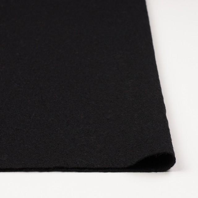 ウール×無地(ブラック)×圧縮天竺ニット_全3色 イメージ3