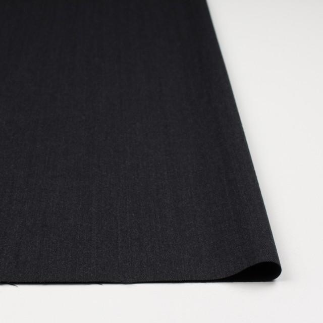 ウール×無地(チャコールブラック)×ヘリンボーン イメージ3