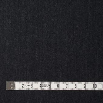 ウール×無地(チャコールブラック)×ヘリンボーン サムネイル4