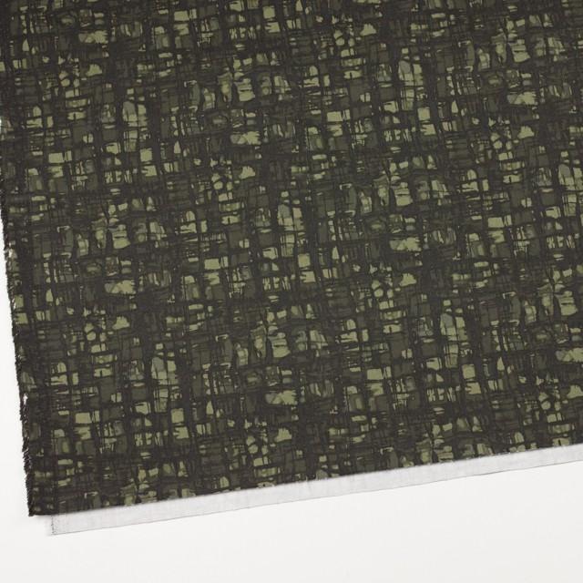 コットン&ポリウレタン×幾何学模様(カーキグリーン)×チノクロス・ストレッチ_全2色 イメージ2