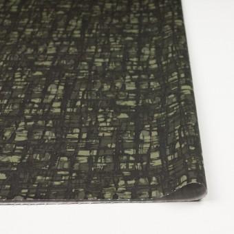 コットン&ポリウレタン×幾何学模様(カーキグリーン)×チノクロス・ストレッチ_全2色 サムネイル3