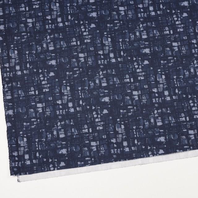 コットン&ポリウレタン×幾何学模様(アイアンネイビー)×チノクロス・ストレッチ_全2色 イメージ2
