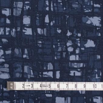 コットン&ポリウレタン×幾何学模様(アイアンネイビー)×チノクロス・ストレッチ_全2色 サムネイル4