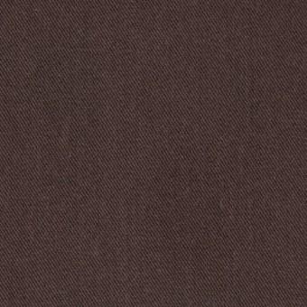 コットン&ポリノジック混×無地(ブラウン)×サージストレッチ_全2色