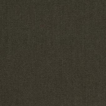 コットン&ポリノジック混×無地(カーキグリーン)×サージストレッチ_全2色