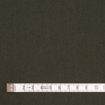 コットン&ポリノジック混×無地(カーキグリーン)×サージストレッチ_全2色 サムネイル4