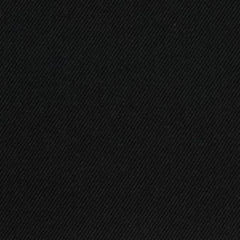 コットン&ポリノジック混×無地(ブラック)×サージストレッチ_全2色