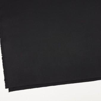 コットン&ポリノジック混×無地(ブラック)×サージストレッチ_全2色 サムネイル2