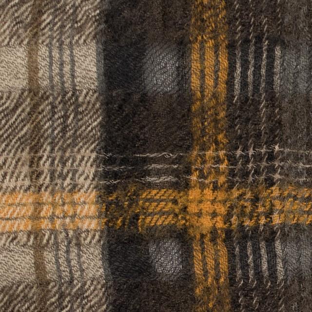 ウール&コットン×チェック(ブラウンミックス)×ビエラ_全2色_イタリア製 イメージ1