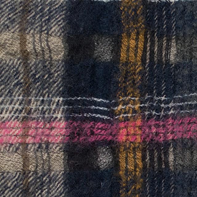 ウール&コットン×チェック(ブルーミックス)×ビエラ_全2色_イタリア製 イメージ1