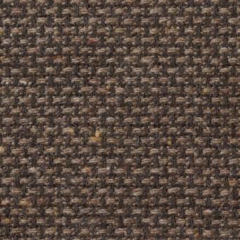 ウール×ミックス(ブラウン)×斜子織