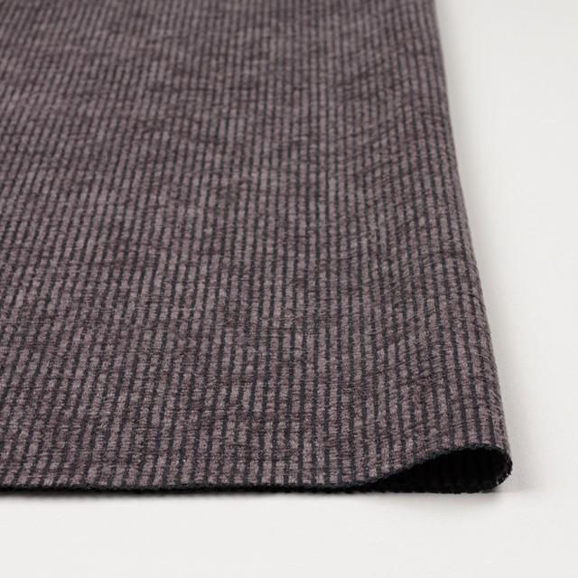 ポリエステル&レーヨン×ストライプ(グレイッシュパープル)×かわり織 イメージ3