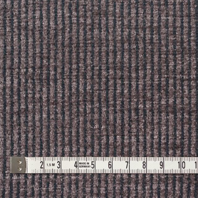 ポリエステル&レーヨン×ストライプ(グレイッシュパープル)×かわり織 イメージ4