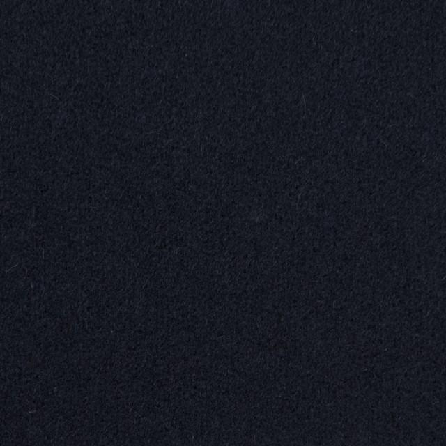 ウール×無地(ダークネイビー)×メルトン イメージ1