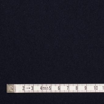ウール×無地(ダークネイビー)×メルトン サムネイル4