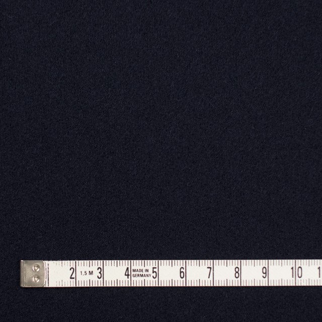 ウール×無地(ダークネイビー)×メルトン イメージ4
