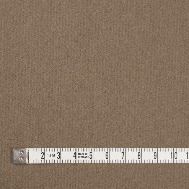 ウール×無地(カーキベージュ)×フラノ(フランネル) イメージ4