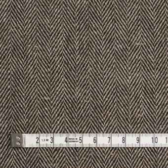 ウール&リネン混×ミックス(ベージュ&ブラウン)×ヘリンボーン サムネイル4