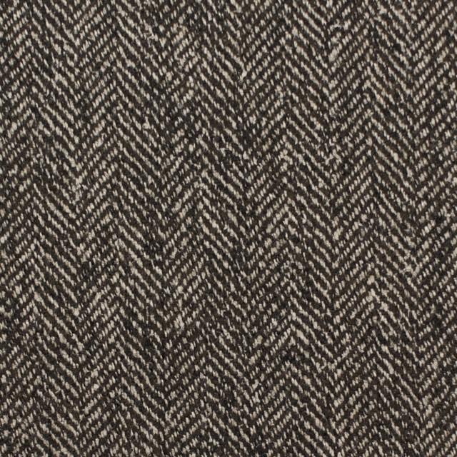 ウール&レーヨン混×ミックス(キナリ&ブラウン)×ヘリンボーン イメージ1