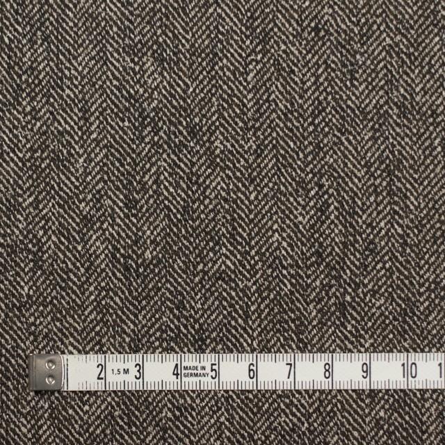 ウール&レーヨン混×ミックス(キナリ&ブラウン)×ヘリンボーン イメージ4