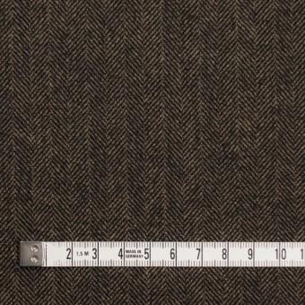 ウール&ポリエステル混×ミックス(キャメル&ブラック)×ヘリンボーン サムネイル4