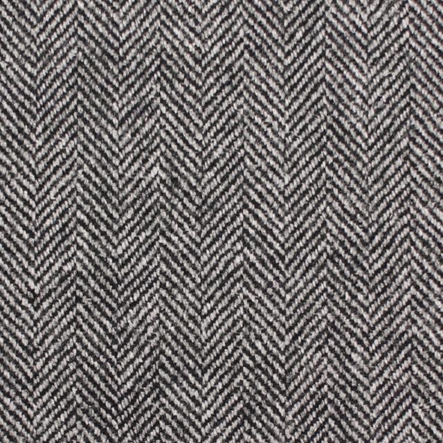 ウール&レーヨン混×ミックス(アイボリー&ブラック)×ヘリンボーン イメージ1