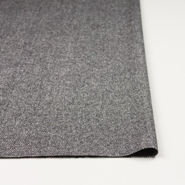 ウール&レーヨン混×ミックス(アイボリー&ブラック)×ヘリンボーン イメージ3