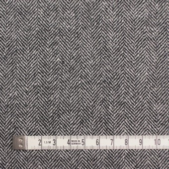 ウール&レーヨン混×ミックス(アイボリー&ブラック)×ヘリンボーン サムネイル4