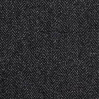 ウール&ポリエステル混×ミックス(グレー&ブラック)×ヘリンボーン・ストレッチ サムネイル1