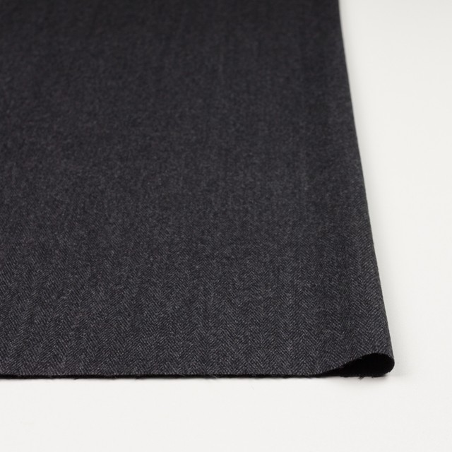 ウール&ポリエステル混×ミックス(グレー&ブラック)×ヘリンボーン・ストレッチ イメージ3