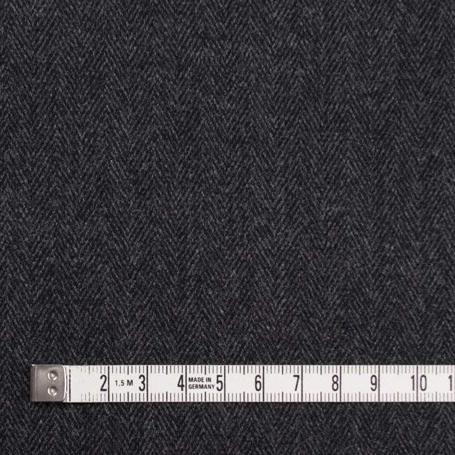 ウール&ポリエステル混×ミックス(グレー&ブラック)×ヘリンボーン・ストレッチ イメージ4